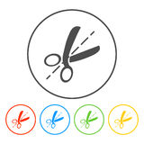 Scissors symbolen vektor illustrationer
