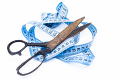 Scissors and tape Stock Images
