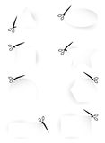 Scissors Template collection Royalty Free Stock Image