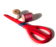 Scissors and thread Stock Photos