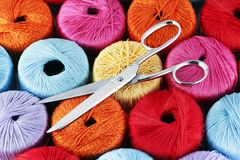 Scissors and threads Stock Photography