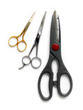 Scissors, three sizes Royalty Free Stock Images