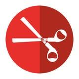 Scissors tool school icon shadow Royalty Free Stock Image