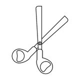 Scissors tool school thin line Stock Photography