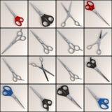 Scissors uppsättning - 16 Royaltyfri Fotografi