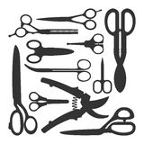 Scissors vector icons set Royalty Free Stock Photos