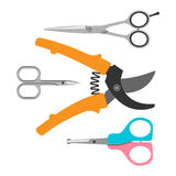 Scissors vector icons set Stock Photography
