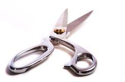 scissors white Fotografering för Bildbyråer