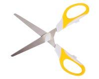 Scissors. Yellow scissors isolated on white Stock Image