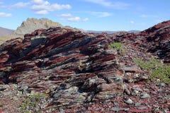 Scisto del parco nazionale di Ivvavik Immagini Stock Libere da Diritti