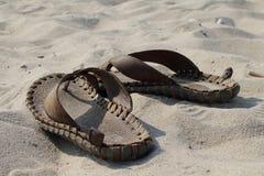 Scisto sulla sabbia Immagine Stock