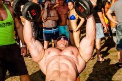 Scitec肌肉海滩 免版税图库摄影