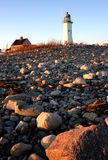 Scituate Light. Lighthouse and rocks in Scituate, Massachusetts Stock Photos