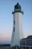 Scituate Light, Scituate, MA. At sunset stock photo