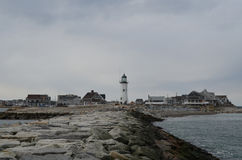 Scituate with Views of Old Scituate Light Royalty Free Stock Photography
