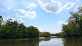 Scivolando giù il fiume stock footage