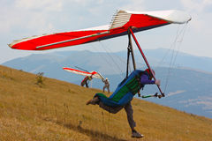 Scivolare di caduta in Monte Cucco Immagini Stock Libere da Diritti