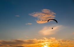 Scivolare di para di tramonto Fotografia Stock
