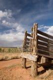 Scivolo del bestiame del deserto fotografia stock libera da diritti