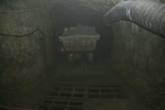 Scivolo del minerale metallifero Immagini Stock