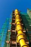 Scivolo delle Luogo-Macerie della costruzione Immagini Stock Libere da Diritti