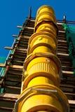 Scivolo delle Luogo-Macerie della costruzione Fotografie Stock