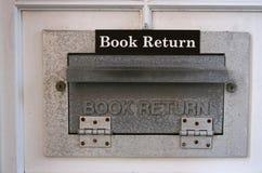 Scivolo di ritorno del libro fotografia stock libera da diritti