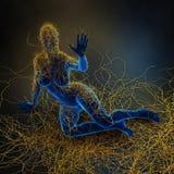 Sclérose en plaques - système d'immunité illustration de vecteur