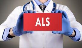 Sclerosi laterale amiotrofica di ALS Fotografie Stock