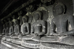 Sclupture de la serie de Buda meditatory Imágenes de archivo libres de regalías