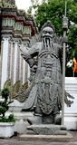 Sclupture géant chinois dans le temple thaïlandais Photo libre de droits