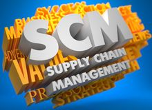 SCM. Business Concept. Royalty Free Stock Images