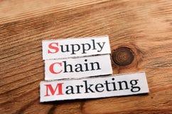 SCM distributionskedjamarknadsföring Arkivfoto