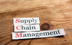 SCM Supply Chain Management Royalty Free Stock Photos
