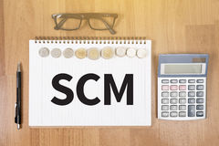 SCM Supply Chain Management concept Stock Image