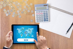 SCM Supply Chain Management concept Royalty Free Stock Photography
