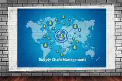SCM Supply Chain Management concept Royalty Free Stock Photos