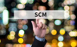 SCM Supply Chain Management concept Royalty Free Stock Image