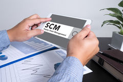 SCM Supply Chain Management concept Stock Photography