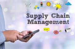 SCM Supply Chain Management concept Royalty Free Stock Photo