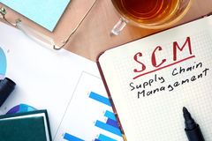 SCM supply chain management Stock Images