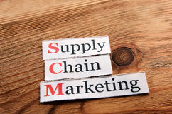 SCM Supply Chain Marketing Stock Photo