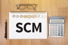 SCM-Versorgungskette-Managementkonzept Stockbild