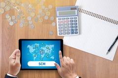 SCM-Versorgungskette-Managementkonzept Lizenzfreie Stockfotografie