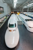 The SCMaglev and Railway Park. NAGOYA, JAPAN - JULY 10, 2016: The SCMaglev and Railway Park features 39 full-size railway vehicles and one bus exhibit, train cab Stock Photography
