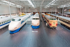 The SCMaglev and Railway Park. NAGOYA, JAPAN - JULY 10, 2016: The SCMaglev and Railway Park features 39 full-size railway vehicles and one bus exhibit, train cab Stock Image