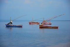 Scène de bateaux Photo stock