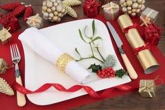 Scène de dîner de Noël Images libres de droits
