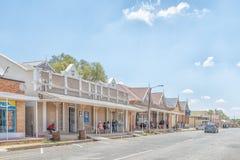 Scène de rue dans Jagersfontein Photographie stock libre de droits