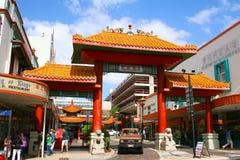 Scène de rue de ville de la Chine de ville de Brisbane Images stock